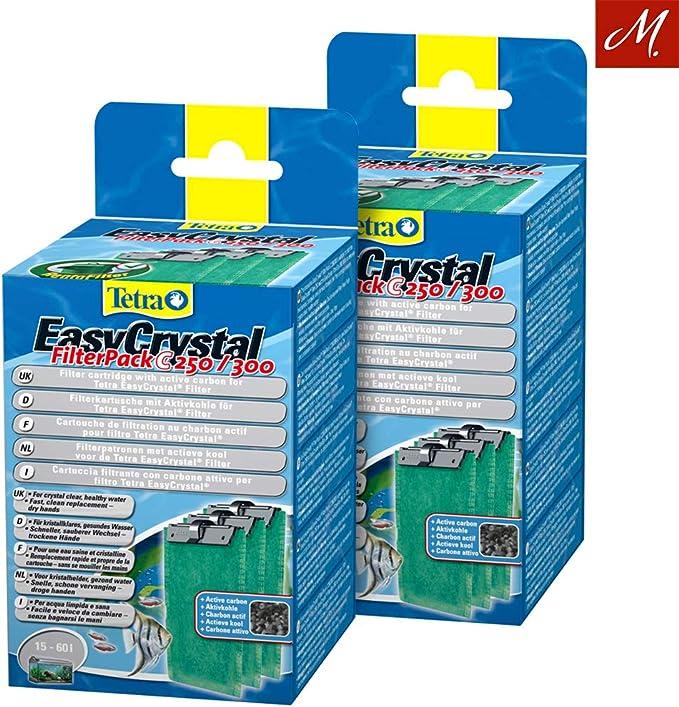 Tetra bajo Juego 2 x easycrys tal filtro Pack C250/300 con carbón activo, 3 unidades): Amazon.es: Productos para mascotas