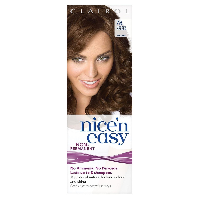 Clairol Nice n' Easy Hair Color #78 Medium Golden Brown (Pack of 3) UK Loving Care