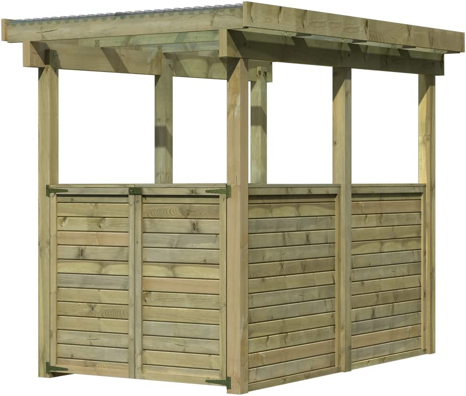 Caseta de jardín madera del Norte tratado 3, 27 m2 KARIBU: Amazon.es: Jardín