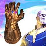 Vercico Thanos Infinity Gauntlet LED Light Up PVC Glove Cosplay Prop Costume for Halloween Party