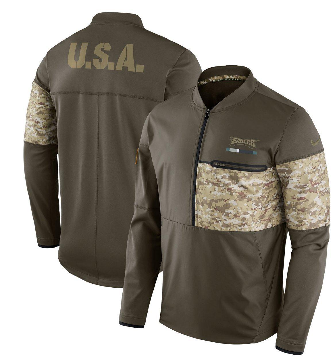 Amazon.com   Philadelphia Eagles NFL Salute to Service Sideline Men s  Hybrid Jacket (XX-Large)   Sports   Outdoors 085b06d31