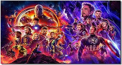 AVENGERS; INFINITY WAR Movie PHOTO Print POSTER Iron Man Art Thanos Endgame 12