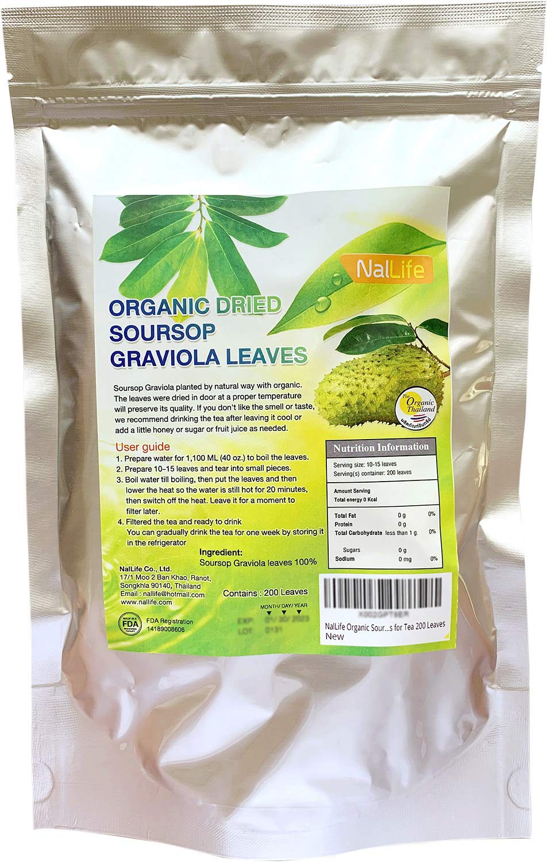 NalLife ORGANIC Soursop Graviola Leaves for Tea 200 Leaves