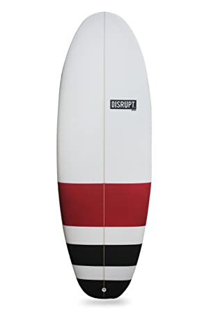 La stubster Tabla de surf, color rojo y negro, ...