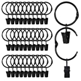 SPLF 36 Pack Metal Openable Curtain Rings with