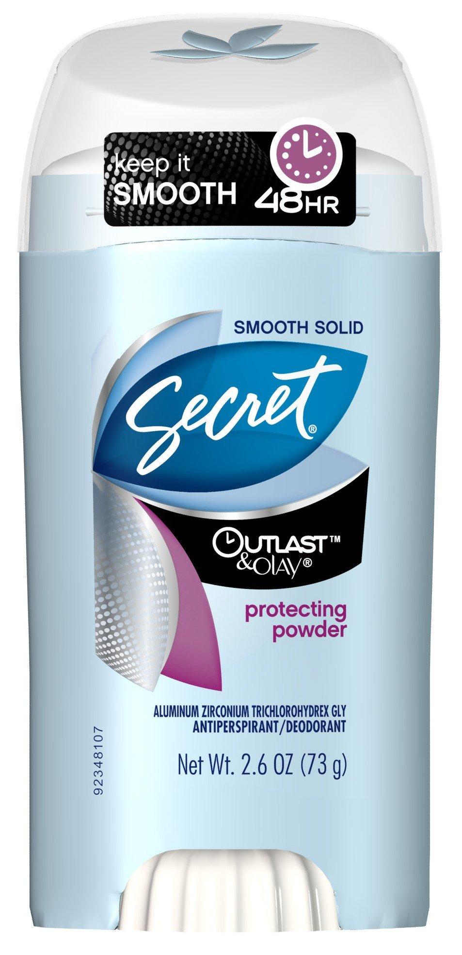 Secret Deodorant Outlast With Olay Smooth Solid Protect2.6 Ounce (76ml) (6 Pack)