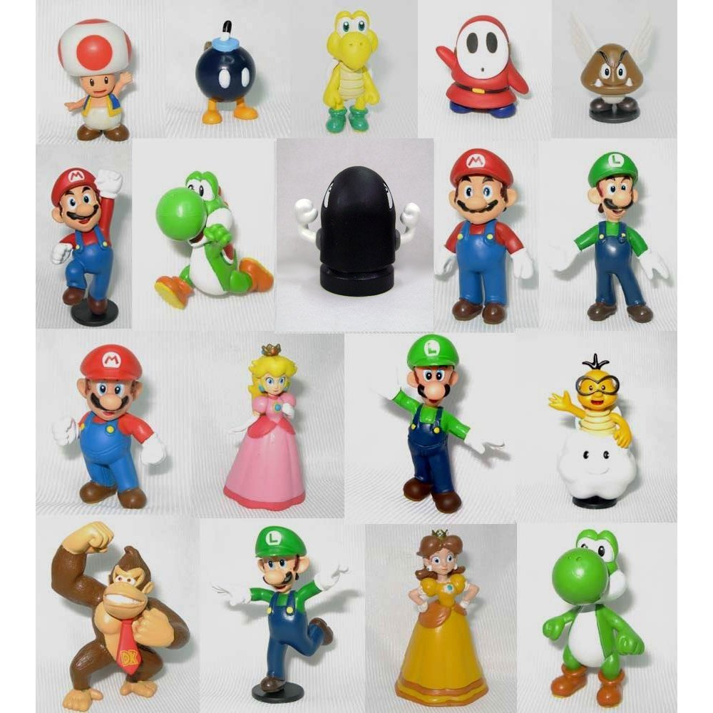 Super Mario Brothers: 2 Mini Figures Set of 18 CA-2XV5DS