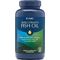 GNC Triple Strength Fish Oil, 120 Count