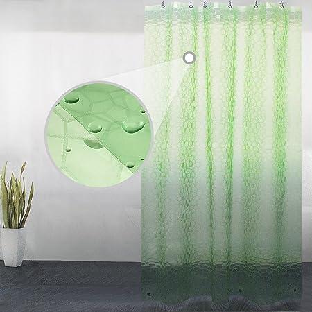 55inch Width Small Shower Stall Curtain Liner Wimaha Short Mildew Resistant Rustproof Grommets