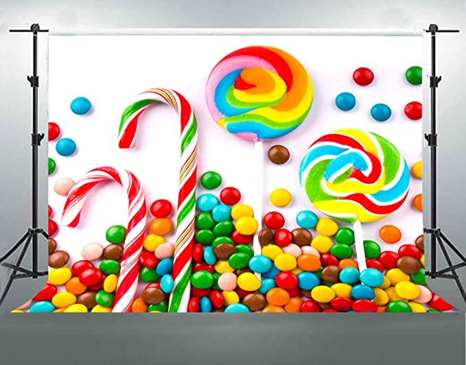 15x10ft Customized Background Candy Theme Birthday Party Photography Backdrop Studio Photo Props LYFU100