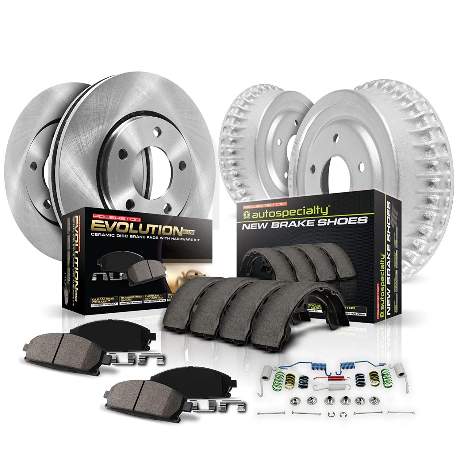 Rotor Drum and Shoe Kits Power Stop Front /& Rear KOE15159DK Autospecialty Daily Driver Pad