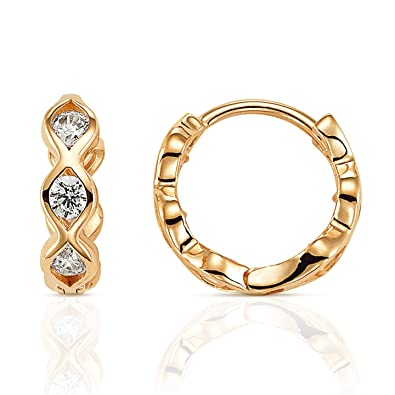 27aba53d8c146 Jewel Connection Solid 14k Gold Huggie Hoop Earrings