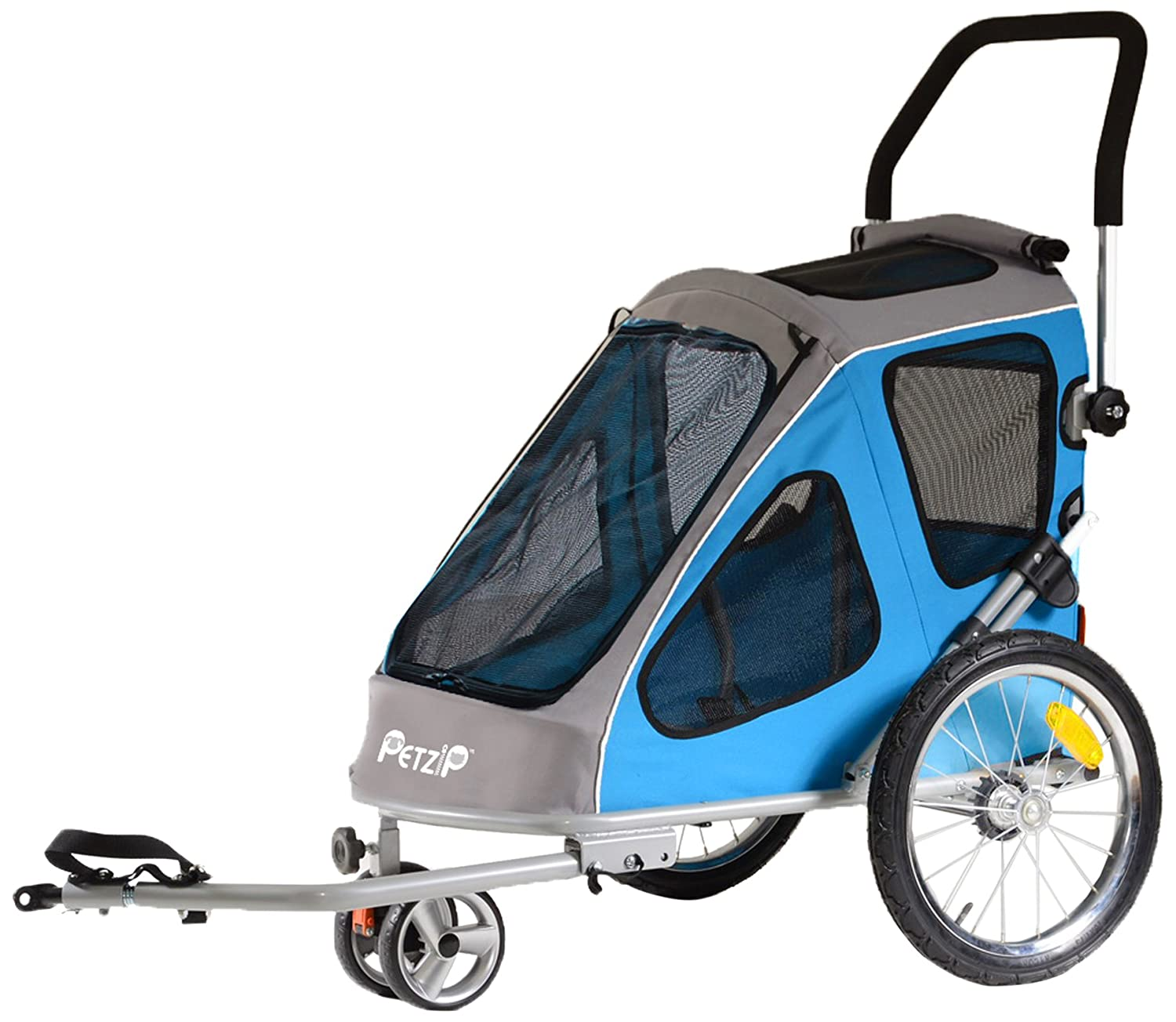 bluee Petzip Zoom Trailer Stroller, bluee