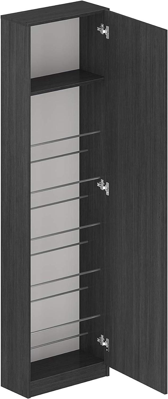 Marca Amazon - Movian Indre Modern - Armario zapatero de 1 puerta con espejo