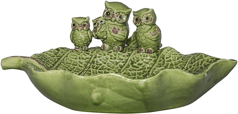 Whimsical Ceramic Bird Feeder with Owl Design