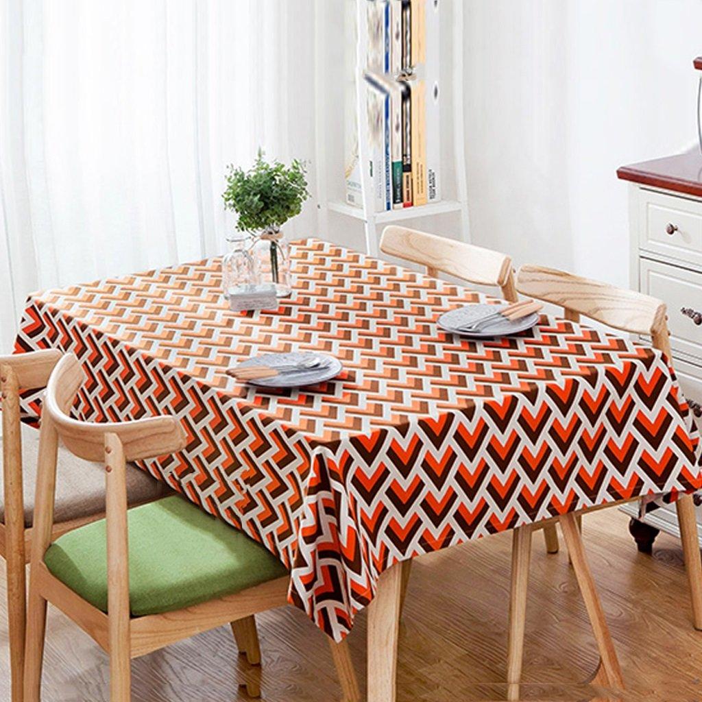 Li jing home Tischdecken nordische Mode geometrische Tischdecken personalisierte Tischdecken Kaffeetischdecke quadratische Tabelle Staub Tischdecken (Farbe   rot, Größe   110  170cm) B07BJ6SZZV Tischdecken Glücklicher Startpunkt  | Modern