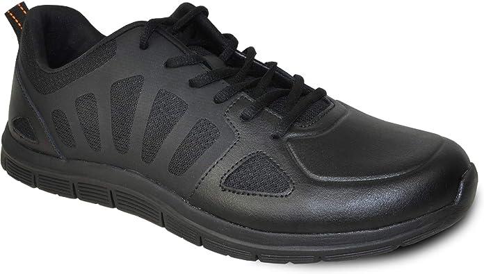 Amazon.com: VANGELO Professional Slip Resistant Men's Work Sneaker Shoe for  Food Service Health Care Nurse Nick Black: Shoes