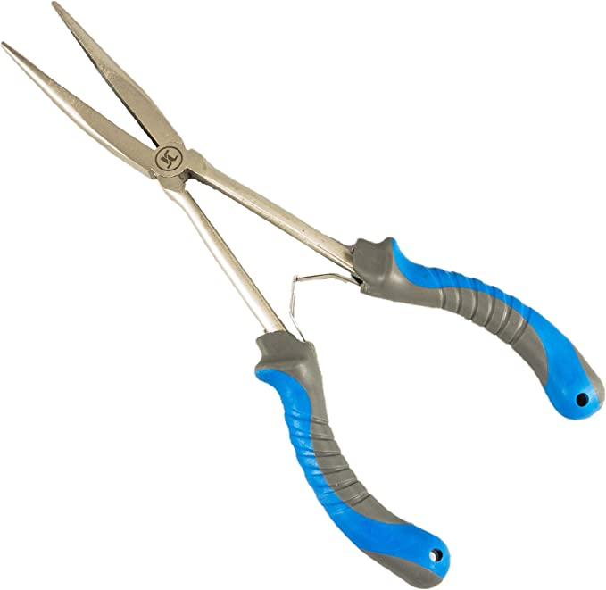 Stainless Steel Jewelry Fishing Flat Nose Plier Hook Remover with Return Spring