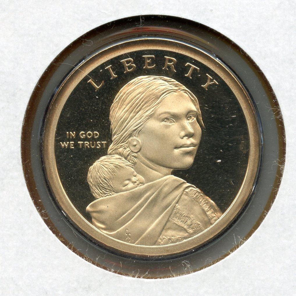 Deep cameo 2010 S PROOF Sacagawea Dollar