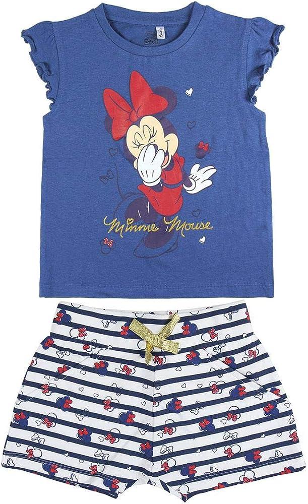 Cerdá Conjunto Ropa Niña Disney Minnie Mouse-Camiseta + Pantalon de Algodón-Color Azul Marino, 2 Años Niñas: Amazon.es: Ropa y accesorios
