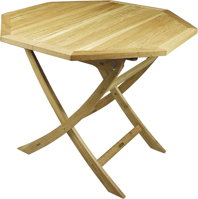 Tavolo In Legno Teak Esagonale Allungabile H 75 Cm Dimensioni Tavolo Chiuso 90x90 Cm Tavolo Aperto 130x30 Cm Amazon It Casa E Cucina