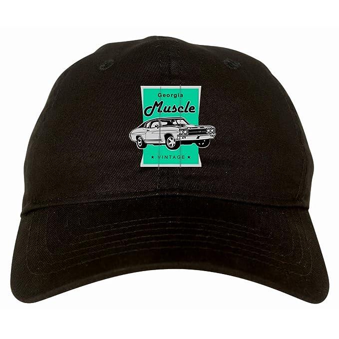 Vintage Georgia Muscle Car Classic Garage 6 Panel Dad Hat Black at ... 90c49ca8042