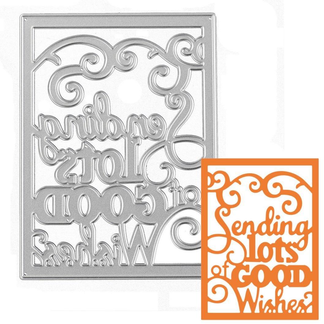 Metal Cutting Dies Stencil Franterd DIY Scrapbooking Embossing Album Letter Paper Card Decor Craft (1, H) Franterd-cf04