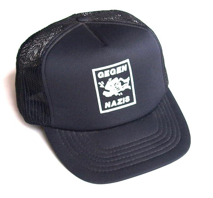 708ff6be011f15 Basecap GEGEN NAZIS Baseball Cap mit Netz hinten Polyester bedruckt ...