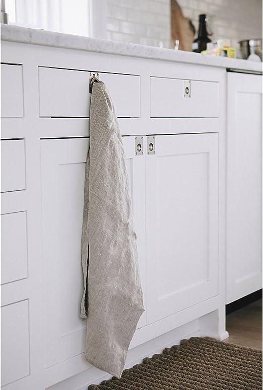 organic linen kitchen tea towel Striped linen tea towel rough linen tea towel