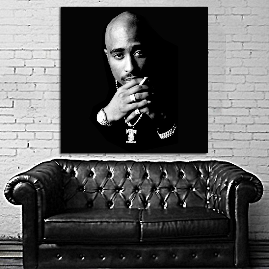 Poster Mural Tupac 2pac 40x40 inch (100x100 cm) on Adhesive Vinyl #90