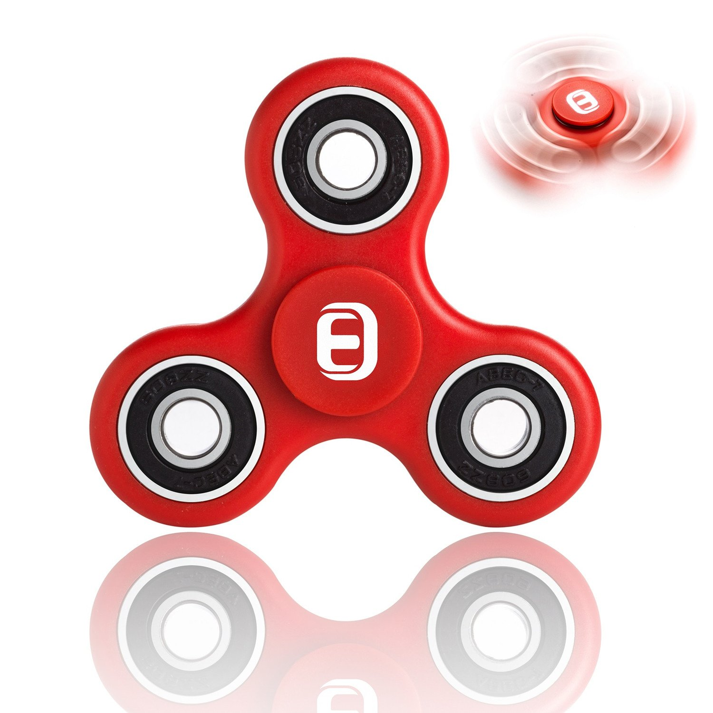Oriental eLife Fidget Spinner toy, EDC Tri Finger Hand Dito Della Mano Giocattolo per Bambini Adulti, Rosso