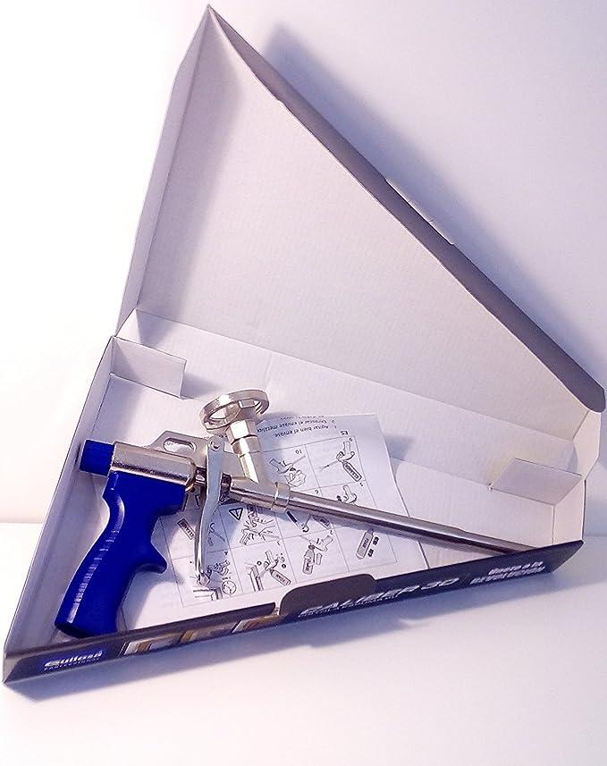 Lote de 2 botes de espumas expansivas de poliuretano (750 ml) para pistola + 1 pistola + 1 limpiador: Amazon.es: Bricolaje y herramientas
