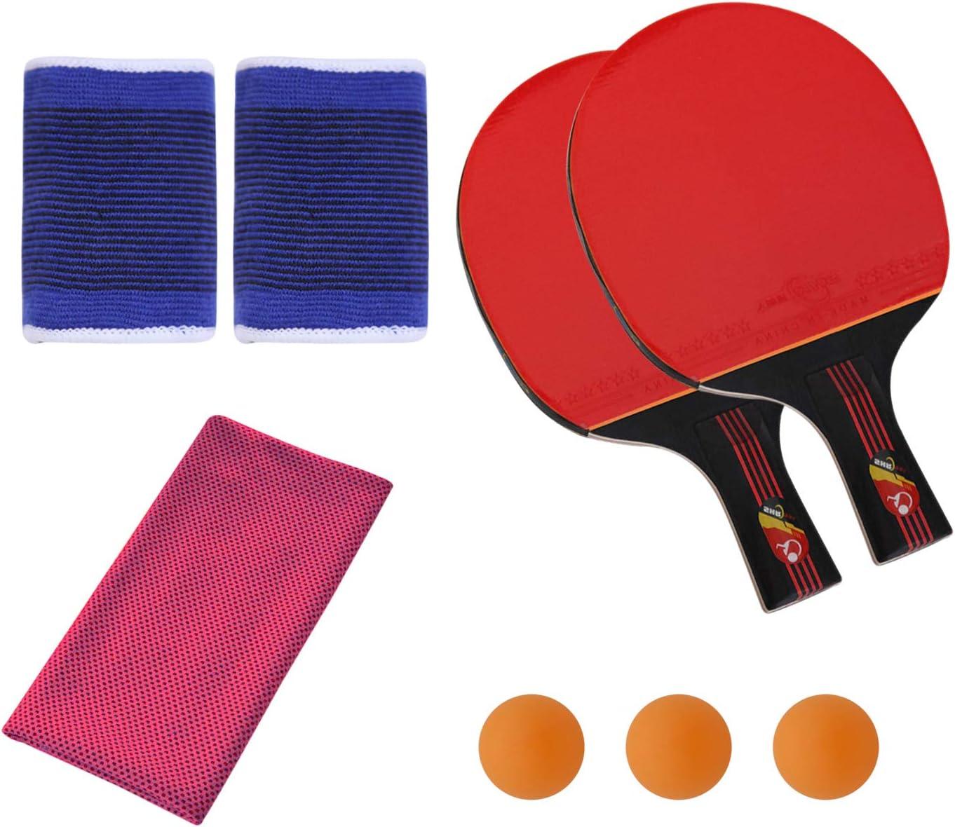 SONSYON Conjunto de Raqueta - Tenis de Mesa Palas y Bolas para el Entrenamiento de Niños Adultos