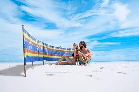 4-10 POLE BEACH WINDBREAKERS HOLIDAY CAMPING CARAVAN WINDBREAK SUN SCREEN LARGE