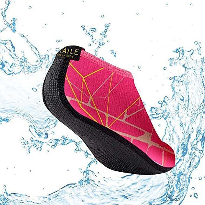 SITAILE Zapatos de Agua Verano, Escarpines Calcetines Descalzo Antideslizante para Hombre Mujer Unisex, Zapatillas Calzados Deporte Acuático Surf Playa Piscina Buceo Yoga (Adulto S=35-36EU, A-Negro)