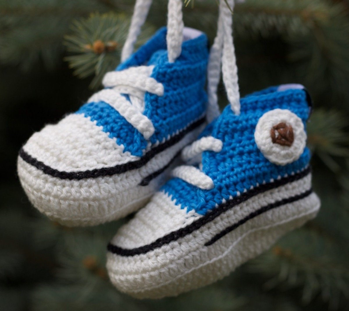 Baobab - Zapatillas de ganchillo para bebé (7-14 meses), color azul: Amazon.es: Bebé