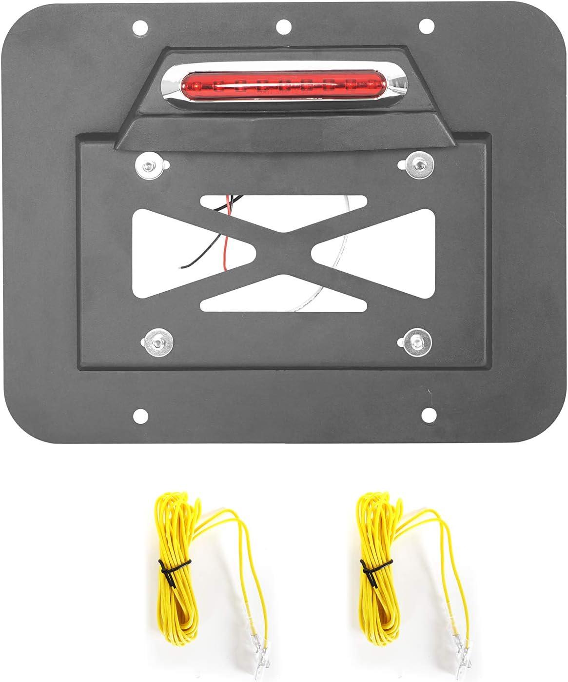 u-Box Jeep Wrangler TJ 97-06 Spare Tire Delete License Plate Relocation Kit w//Plate Illuminate Light /& Third Brake Light