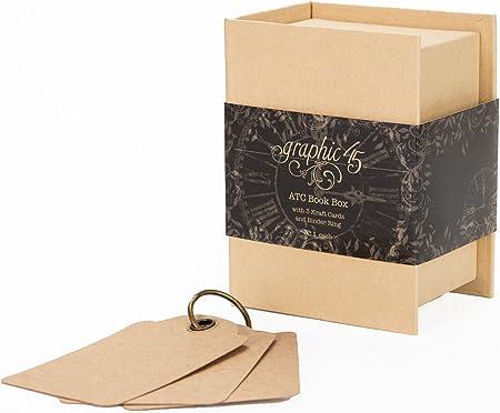 Graphic 45 Staples - Caja con Forma de Libro: Amazon.es: Hogar