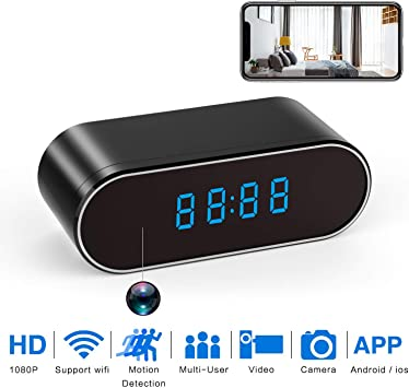 UK STOCK 180 Degree 1080P HD Hidden Wifi Camera 4K Wireless Baby Security IP Cam