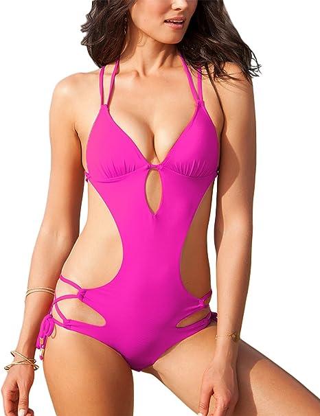 Amazon.com: upopby Mujer Sexy bañadores de una pieza ...