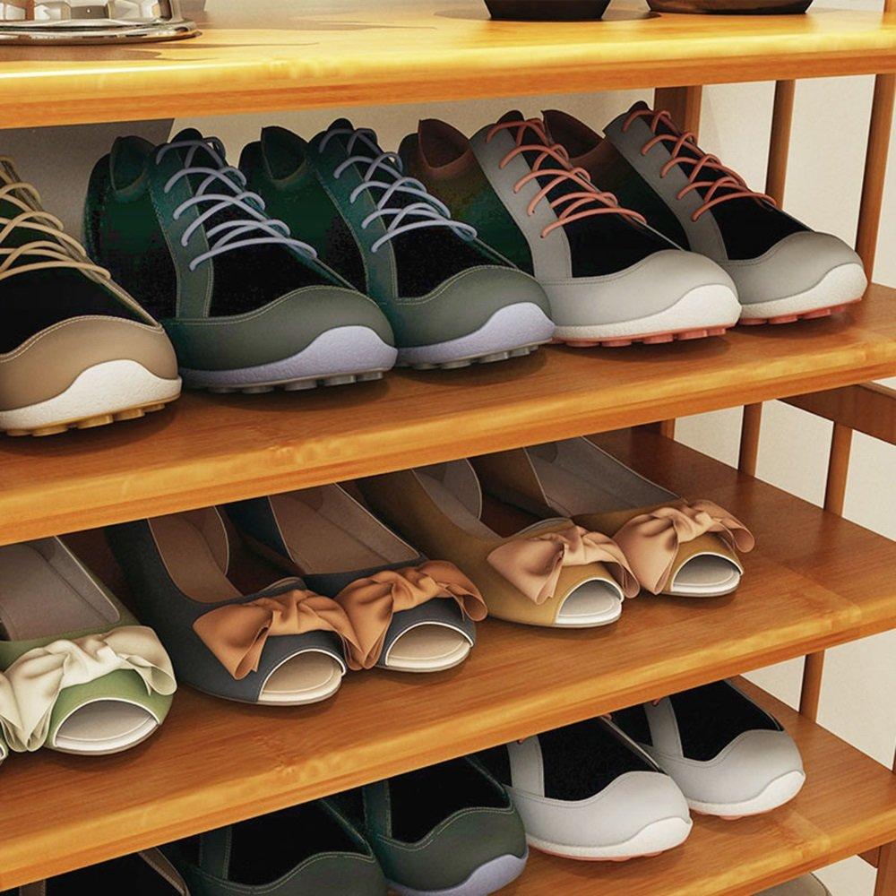 ZHIRONG Shoe Rack, 4 Tier Bamboo Shoe Rack Storage Organiser Entryway Shoe Shelf Made 100% Natural Bamboo 512668CM / 602668CM / 682668CM / 782668CM / 882668CM by Storage rack (Image #4)