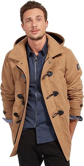 Tom Tailor Dufflecoat W/Print Hoodlining Abrigo para Hombre