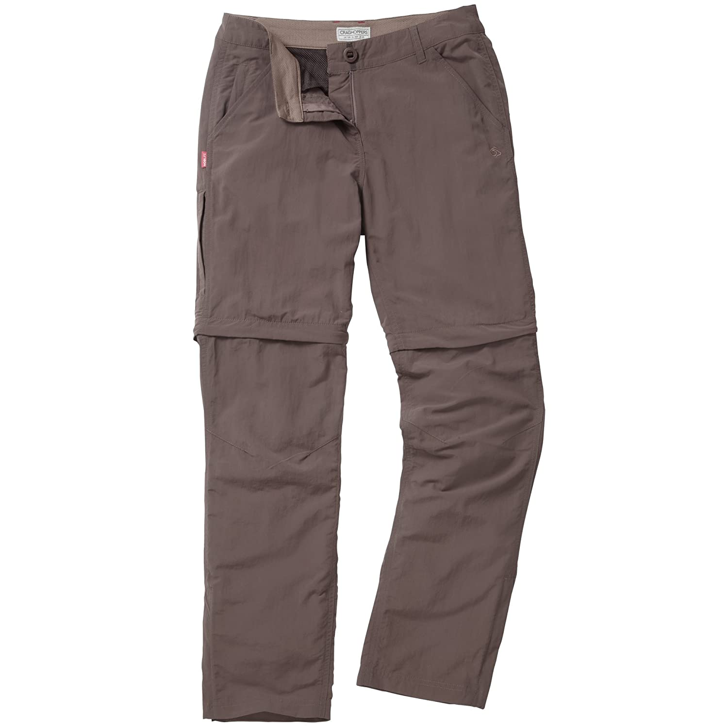 f398451410b3 Craghoppers Womens/Ladies Nosilife Insect Repellent Zip Off Trousers/Pants  at Amazon Women's Clothing store: