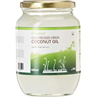 Down To Earth Organic Virgin Coconut Oil For Skin, Hair, and Body, 100% Organic Cold Pressed Oil, Best For Keto and…