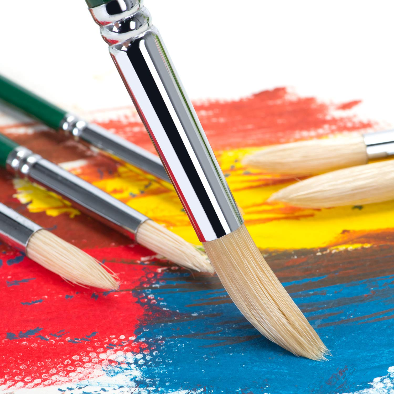 Colori acrilici URCGP Set di pennelli per artisti Pennello fine Pennello a setole Lavorazione di Alta qualit/à Perfetto per acquerelli Colori ad Olio di Diverse Dimensioni Verde