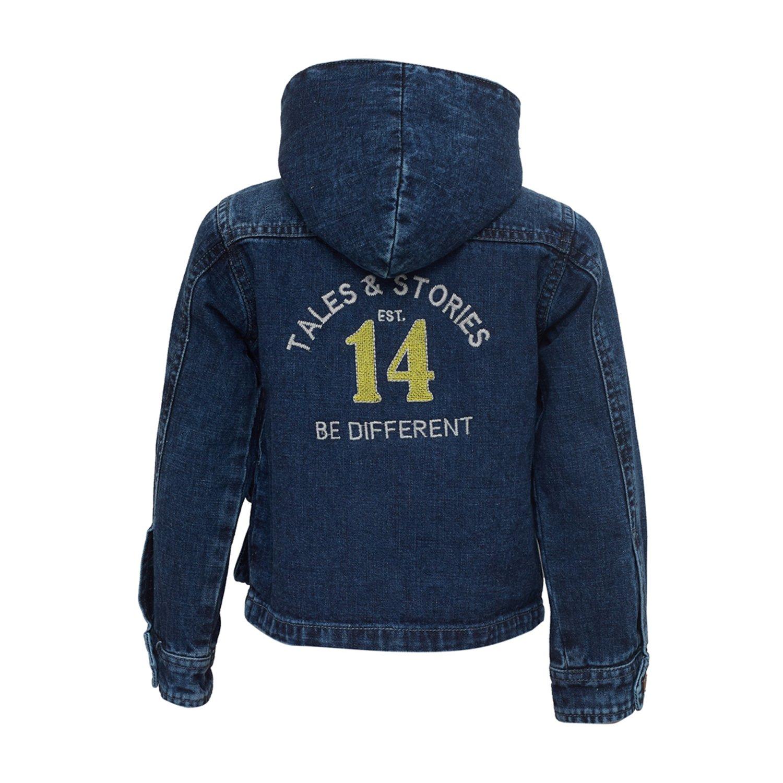 Tales /& Stories Big Boys Denim Hooded Jacket