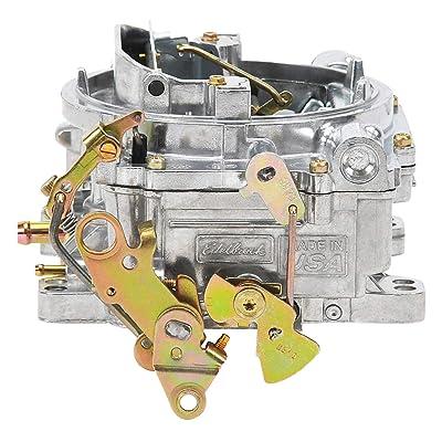 Edelbrock 1405 Performer 600 CFM Square Bore 4-Barrel Air Valve Secondary Manual Choke New Carburetor: Automotive