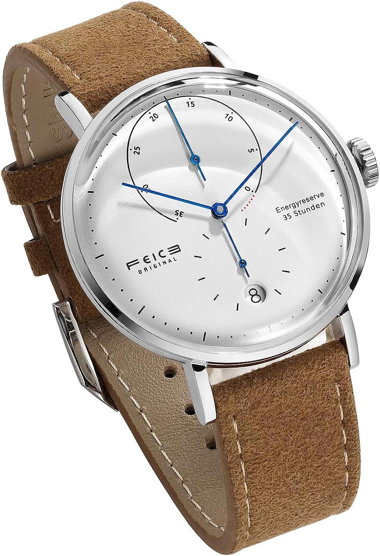 FEICE Reloj Automatico para Hombre Reloj Bauhaus Reloj Mecanico Acero Inoxidable Reloj Analogico de Moda Unisex FM202 42mm