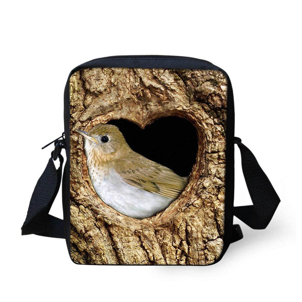 Sannovo Bird Animal School Bag Girl Boy Small Messenger Satchel Mini Coin Purse