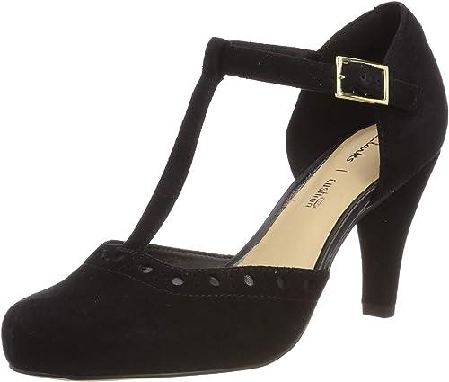 uk availability pick up reputable site Clarks Dalia Leah, Women's T-Bar T-Bar Pumps: Amazon.co.uk: Shoes ...